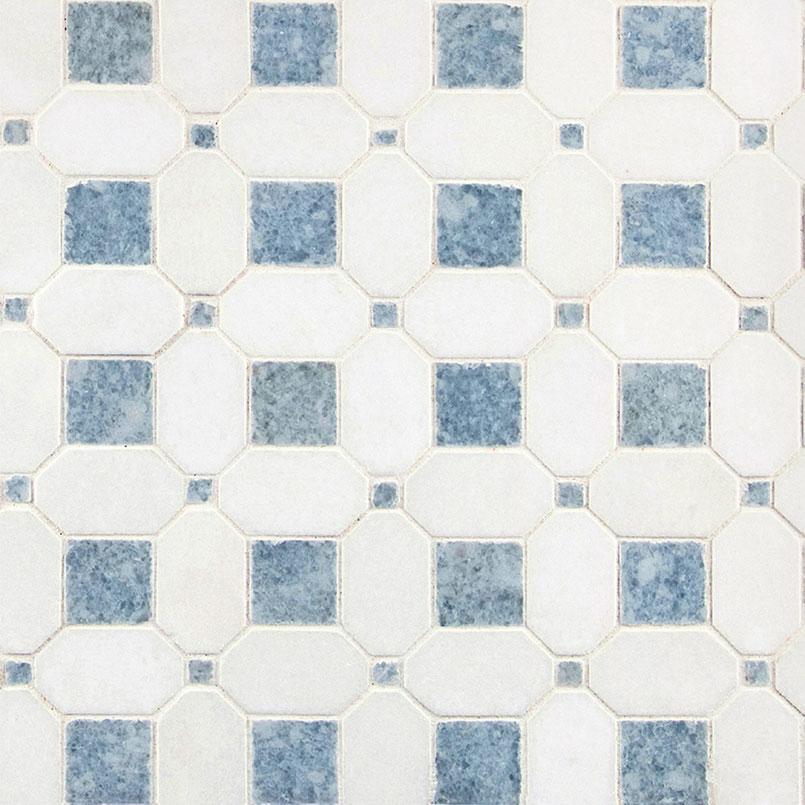 NATURAL STONE MARBLE COLLECTIONS, Tiles and Flooring msi-tiles-flooring-azula-hatchwork-polished-SMOT-AZULA-HATHWRKP