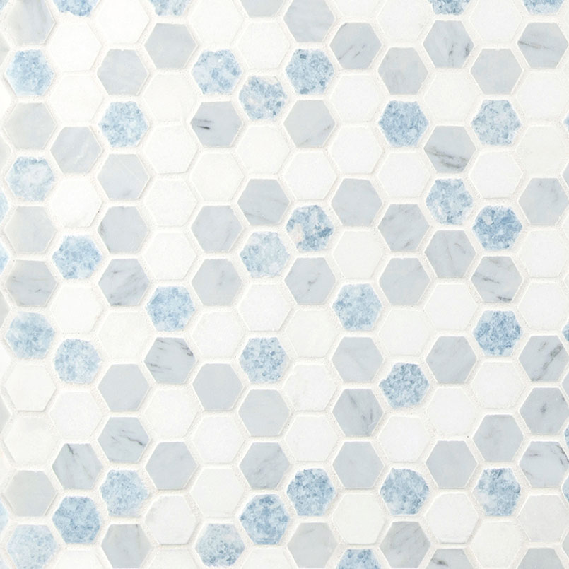 NATURAL STONE MARBLE COLLECTIONS, Tiles and Flooring msi-tiles-flooring-azula-hex-polished-SMOT-AZULA-1HEXP