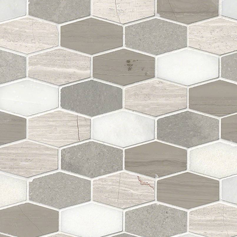 DECORATIVE MOSAICS, Tiles and Flooring msi-tiles-flooring-bellagio-blend-elongated-hexagon-SMOT-BELBLND-HEXEL10MM