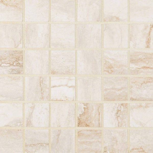 PORCELAIN FLOOR TILES, Tiles and Flooring msi-tiles-flooring-bernini-bianco-2x2-mosaic-NBERBIA2X2