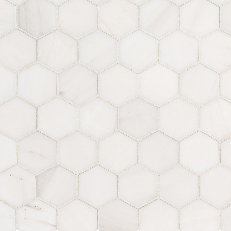 NATURAL STONE MARBLE COLLECTIONS, Tiles and Flooring msi-tiles-flooring-bianco-dolomite-hexagon-mosaic-SMOT-BIANDOL-2HEXP