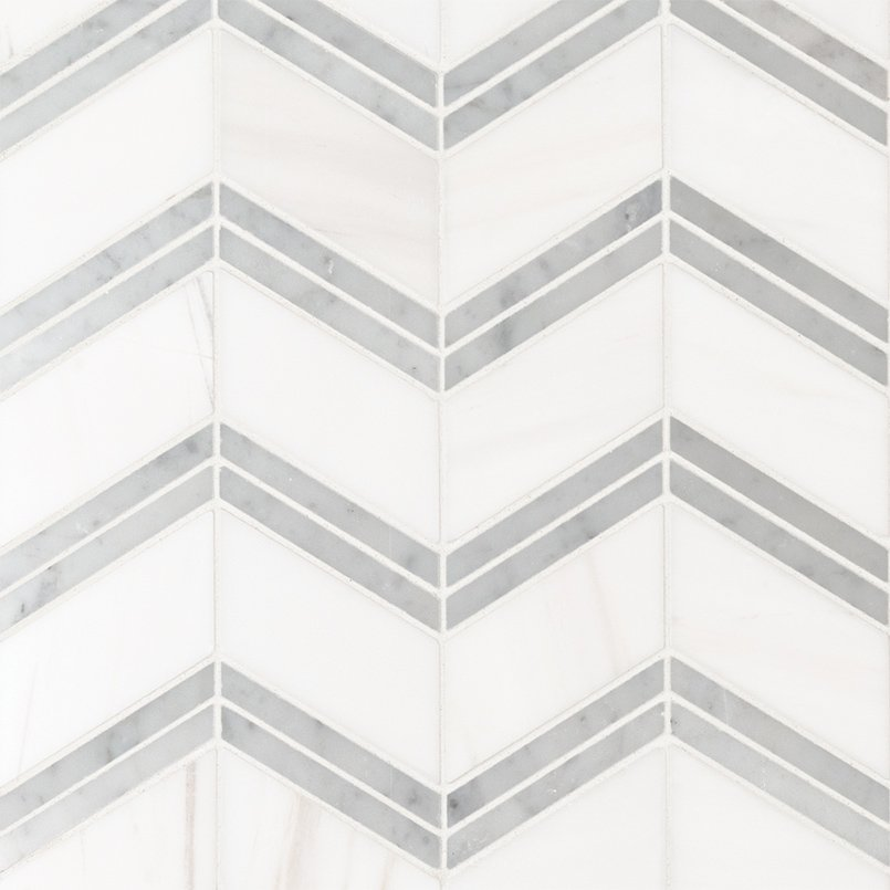 NATURAL STONE MARBLE COLLECTIONS, Tiles and Flooring msi-tiles-flooring-bianco-dolomite-cheveron-mosaic-SMOT-BIANDOL-CHEP