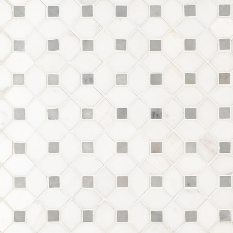 NATURAL STONE MARBLE COLLECTIONS, Tiles and Flooring msi-tiles-flooring-bianco-dolomite-dotty-mosaic-SMOT-BIANDOL-DOTP