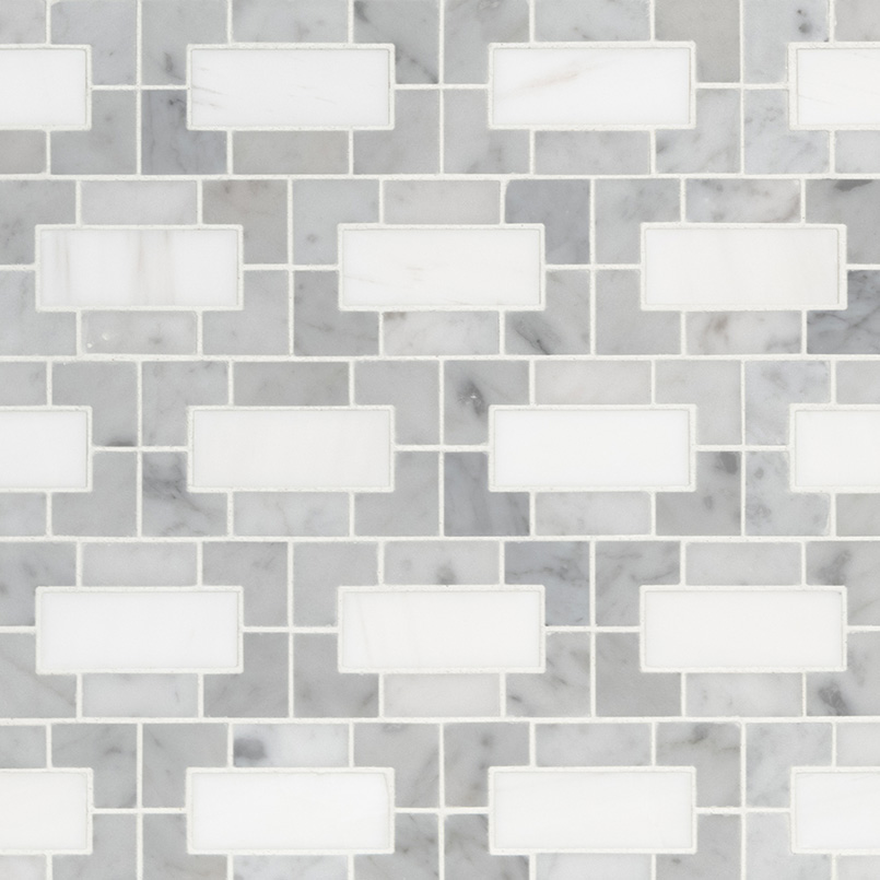 NATURAL STONE MARBLE COLLECTIONS, Tiles and Flooring msi-tiles-flooring-bianco-dolomite-lynx-mosaic-SMOT-BIANDOL-LYNXP