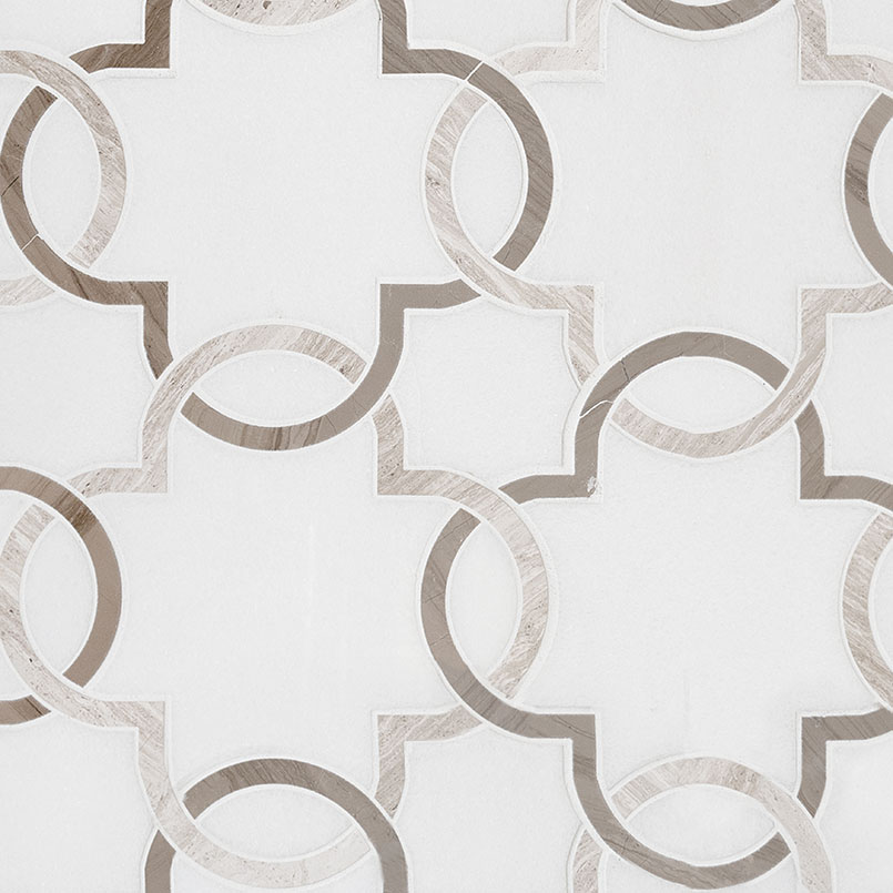 NATURAL STONE MARBLE COLLECTIONS, Tiles and Flooring msi-tiles-flooring-bianco-quatrefoil-polished-SMOT-BIA-QTRFOILP