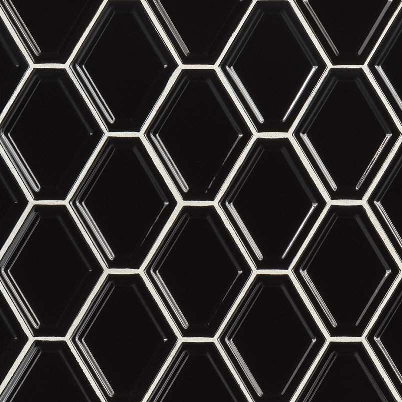 PORCELAIN FLOOR TILES, Tiles and Flooring msi-tiles-flooring-black-glossy-diamond-positive-shape-NBLAGLODIA