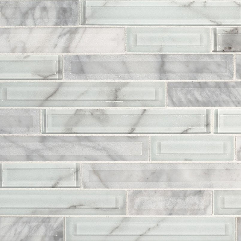 DECORATIVE MOSAICS, Tiles and Flooring msi-tiles-flooring-blocki-blanco-interlocking-SMOT-SGLSIL-BLOBLA8MM