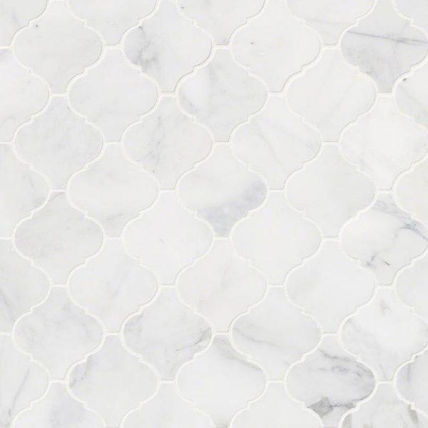 Tile Samples msi-tiles-flooring-calacatta-cressa-arabesque-mosaic-SMOT-CALCRE-ARABESQ