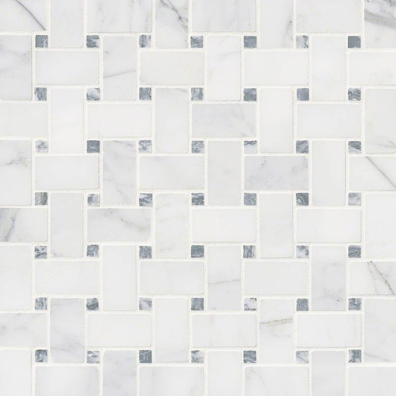 NATURAL STONE MARBLE COLLECTIONS, Tiles and Flooring msi-tiles-flooring-calacatta-cressa-basketweave-mosaic-SMOT-CALCRE-BWH