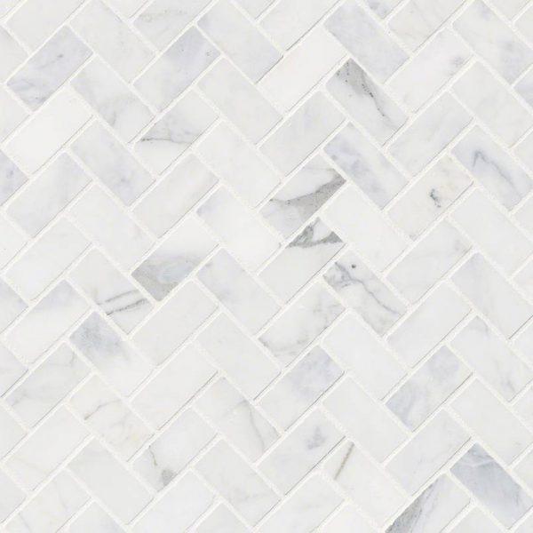 Tile Samples msi-tiles-flooring-calacatta-cressa-herringbone-mosaic-SMOT-CALCRE-HBH