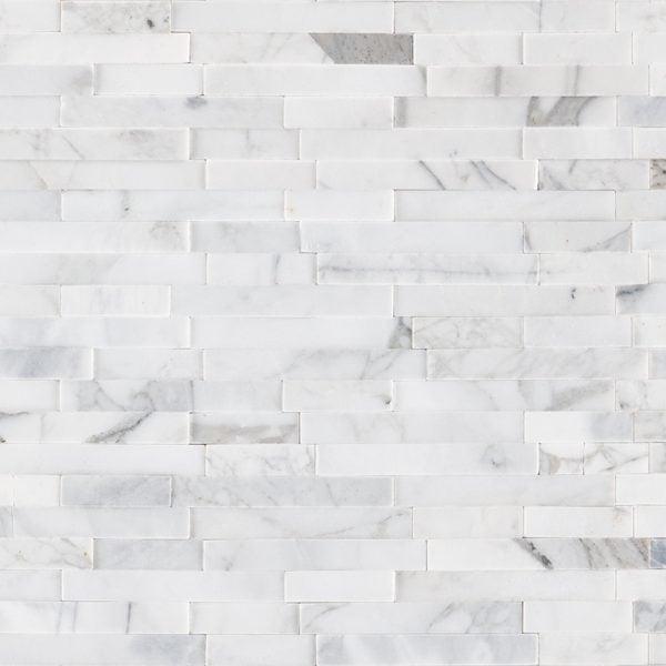 NATURAL STONE MARBLE COLLECTIONS, Tiles and Flooring msi-tiles-flooring-calacatta-cressa-interlocking-3d-peelstick-mosaic-SMOT-PNS-CALCREIL3D-6MM