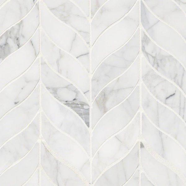 Tile Samples msi-tiles-flooring-calacatta-cressa-leaf-mosaic-SMOT-CALCRE-LEAFH