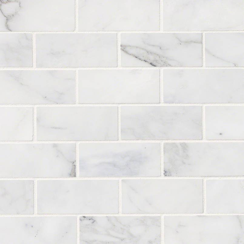 NATURAL STONE MARBLE COLLECTIONS, Tiles and Flooring msi-tiles-flooring-calacatta-cressa-mosaic-SMOT-CALCRE-2X4H