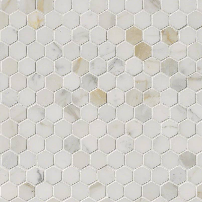 NATURAL STONE MARBLE COLLECTIONS, Tiles and Flooring tiles-and-flooring-calacatta-gold-1-hexagon-mosaic-SMOT-CALAGOLD-1HEX