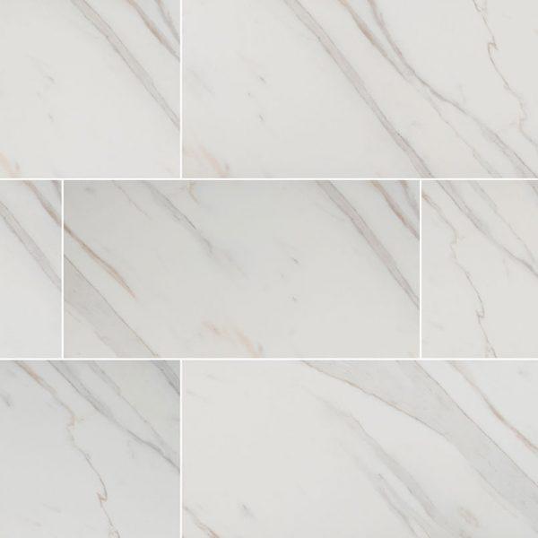 PORCELAIN FLOOR TILES, Tiles and Flooring msi-tiles-flooring-pietra-calacatta-24x24-polished-2020-NPIECAL2424P-N
