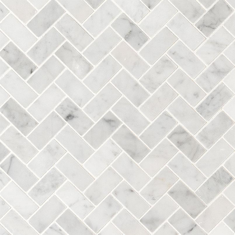 Tile Samples msi-tiles-flooring-carrara-white-1x2-herringbone-honed-SMOT-CAR-1X2HBH