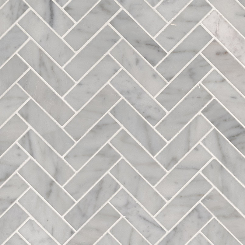 NATURAL STONE MARBLE COLLECTIONS, Tiles and Flooring msi-tiles-flooring-carrrara-white-herringbone-mosaic-SMOT-CAR-1X3HBP