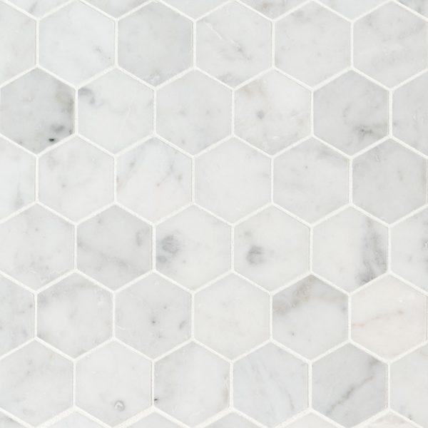 Tile Samples msi-tiles-flooring-carrara-white-2-hexagon-honed-SMOT-CAR-2HEXH