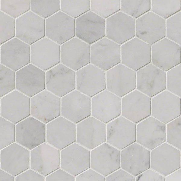 Tile Samples msi-tiles-flooring-carrara-white-2-hexagon-mosaic-SMOT-CAR-2HEXP