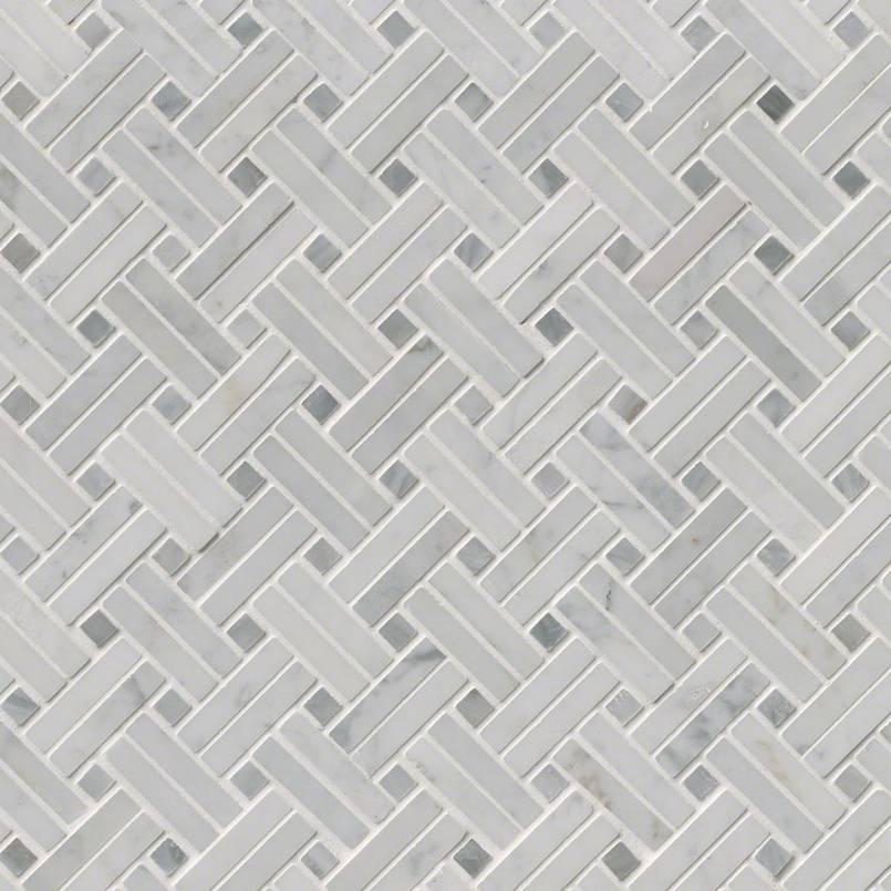 Tile Samples msi-tiles-flooring-carrara-white-basketweave-mosaic-SMOT-CAR-BW2P