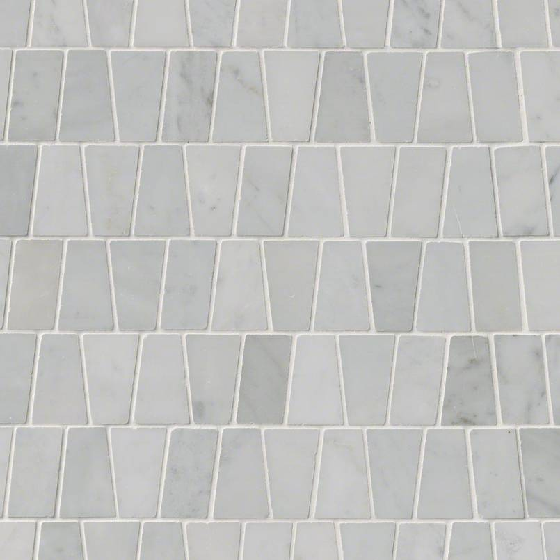 NATURAL STONE MARBLE COLLECTIONS, Tiles and Flooring msi-tiles-flooring-carrara-white-trapezoid-mosaic-SMOT-CAR-TRAP