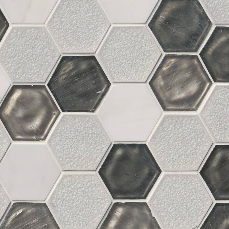 DECORATIVE MOSAICS, Tiles and Flooring msi-tiles-flooring-circa-zirconia-hexagon-SMOT-SGLS-CIRZIR8MM