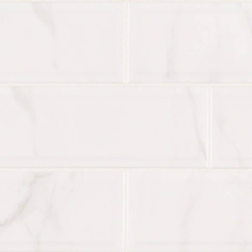 DECORATIVE MOSAICS, Tiles and Flooring msi-tiles-flooring-classique-white-carrara-beveled-4x16-NWHICARGLO4X16BEV