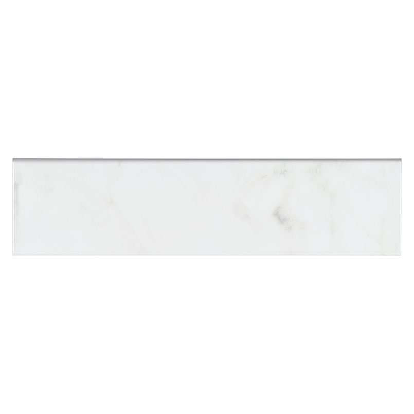 DECORATIVE MOSAICS, Tiles and Flooring msi-tiles-flooring-classique-white-carrara-4x16-bull-nose-NWHICARGLO4X16SBN
