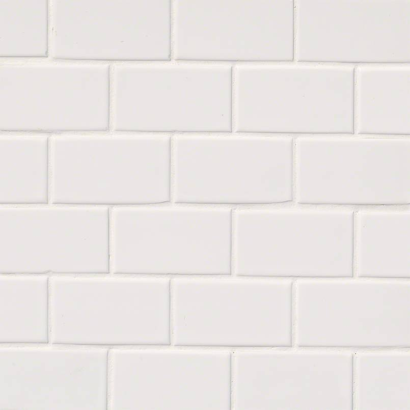 DECORATIVE MOSAICS, DOMINO COLLECTION, Tiles and Flooring msi-tiles-flooring-white-glossy-2x4-staggered-NWHI2X4G