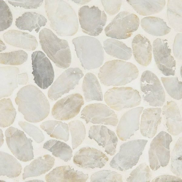 DECORATIVE MOSAICS, RIO LAGO COLLECTION, Tiles and Flooring msi-tiles-flooring-dorado-pebbles-mesh-backed-SMOT-PEB-DORADO