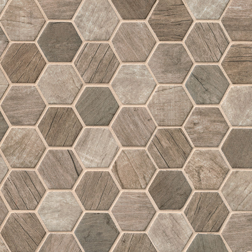 DECORATIVE MOSAICS, Tiles and Flooring msi-tiles-flooring-driftwood-hexagon-SMOT-GLS-DRIFT6MM