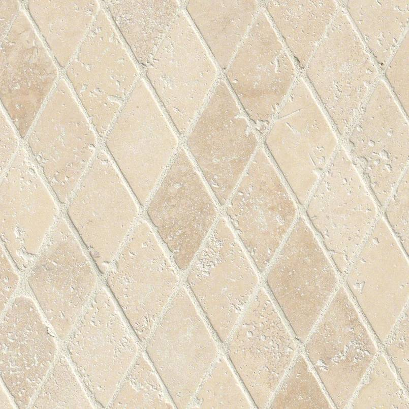 NATURAL STONE TRAVERTINE COLLECTIONS, Tiles and Flooring msi-tiles-flooring-durango-2x2-rhomboids-mosaic-SMOT-DUR-2X2RBT