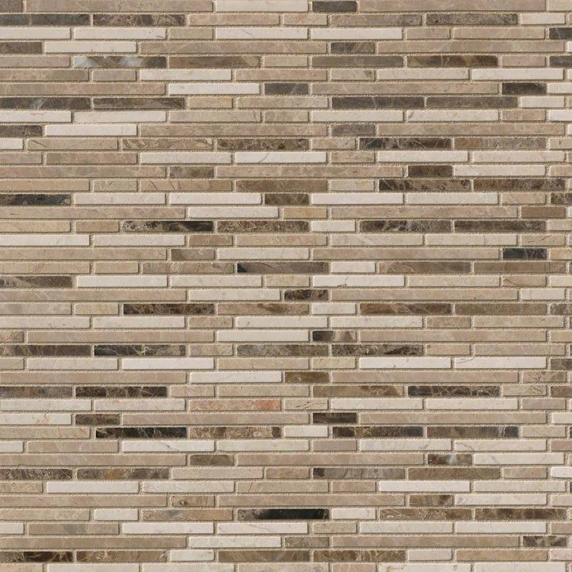 NATURAL STONE MARBLE COLLECTIONS, Tiles and Flooring msi-tiles-flooring-emperador-blend-bamboo-mosaic-SMOT-EMPBB-BMP10MM