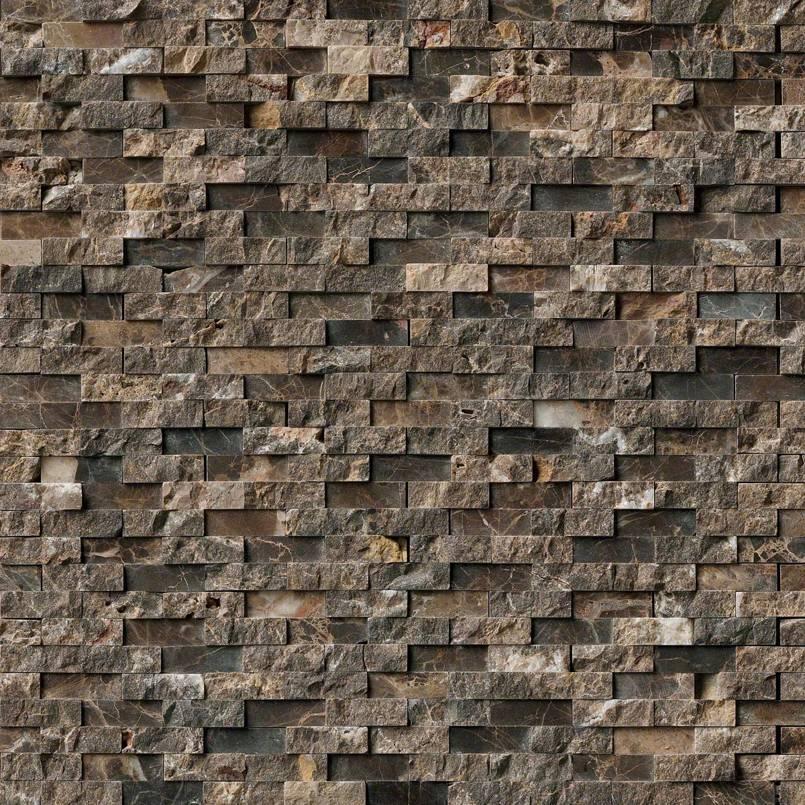 NATURAL STONE MARBLE COLLECTIONS, Tiles and Flooring msi-tiles-flooring-emperador-splitface-mosaic-SMOT-EMP-SFIL10MM
