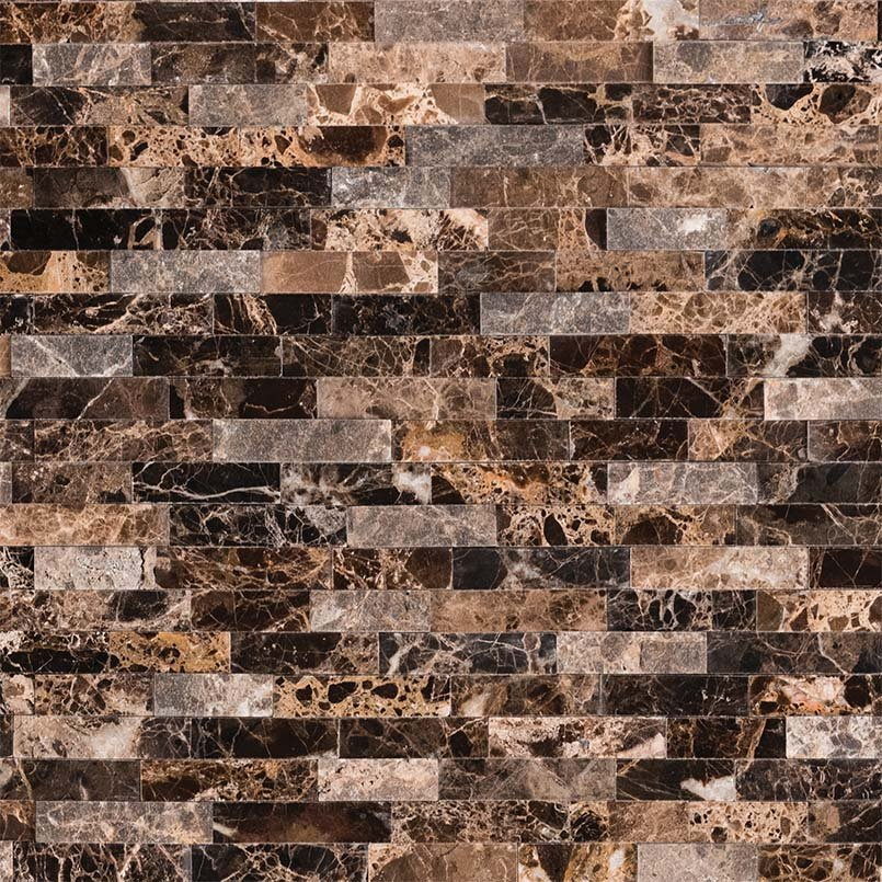 NATURAL STONE MARBLE COLLECTIONS, Tiles and Flooring msi-tiles-flooring-emperador-splitface-peel-and-stick-mosaic-SMOT-PNS-EMPSF-6MM