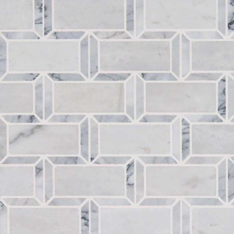 NATURAL STONE MARBLE COLLECTIONS, Tiles and Flooring msi-tiles-flooring-arabescato-carrara-framework-mosaic-SMOT-FRMWRK-POL10MM