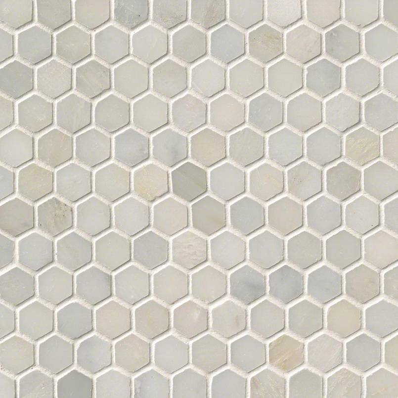 NATURAL STONE MARBLE COLLECTIONS, Tiles and Flooring msi-tiles-flooring-greecian-white-1-hexagon-mosaic-SMOT-GRE-1HEXP