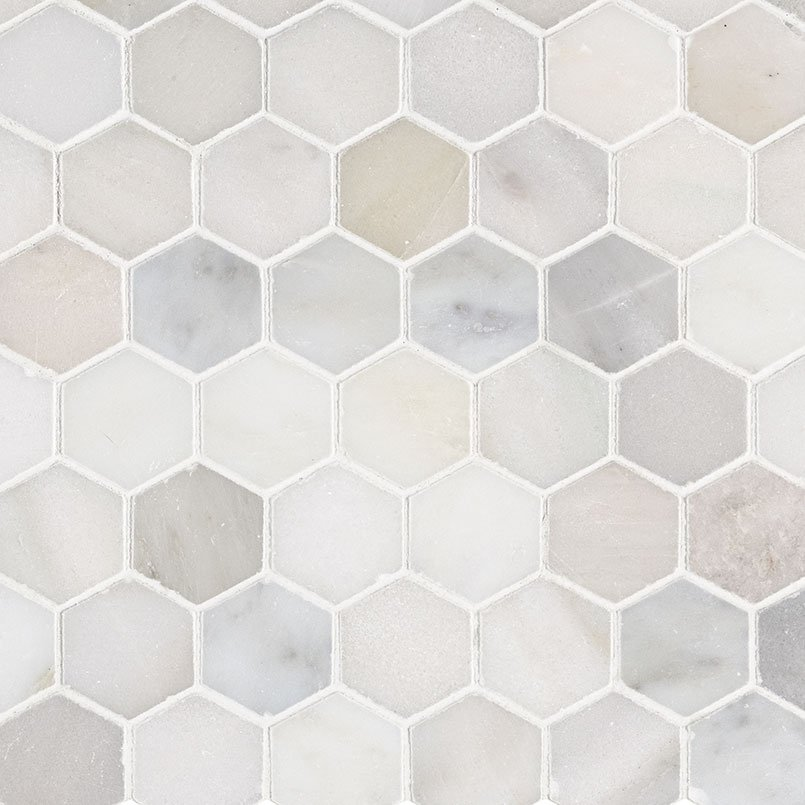 NATURAL STONE MARBLE COLLECTIONS, Tiles and Flooring msi-tiles-flooring-greecian-white-2-hexagon-SMOT-GRE-2HEXP
