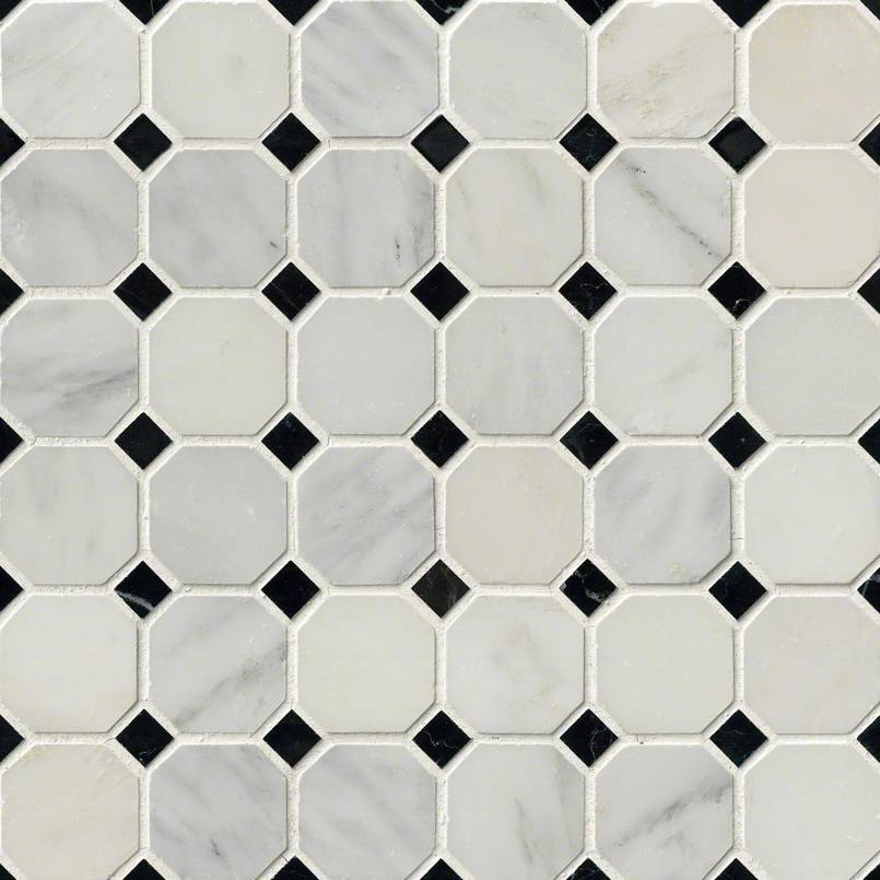 NATURAL STONE MARBLE COLLECTIONS, Tiles and Flooring msi-tiles-flooring-greecian-white-2-octagon-mosaic-THDW1-SH-GWO