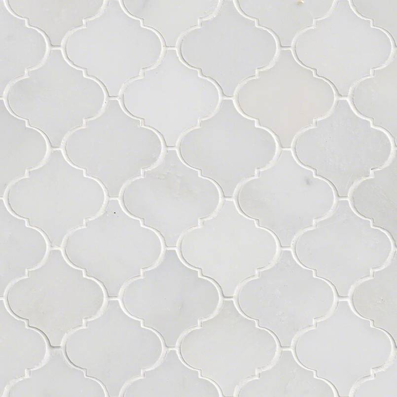 NATURAL STONE MARBLE COLLECTIONS, Tiles and Flooring msi-tiles-flooring-greecian-white-arabesque-mosaic-SMOT-GRE-AREBESQ