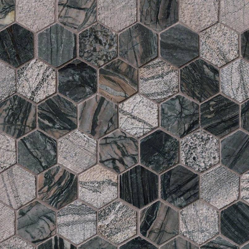 DECORATIVE MOSAICS, Tiles and Flooring msi-tiles-flooring-henley-2-hexagon-SMOT-HENLEY-2HEX