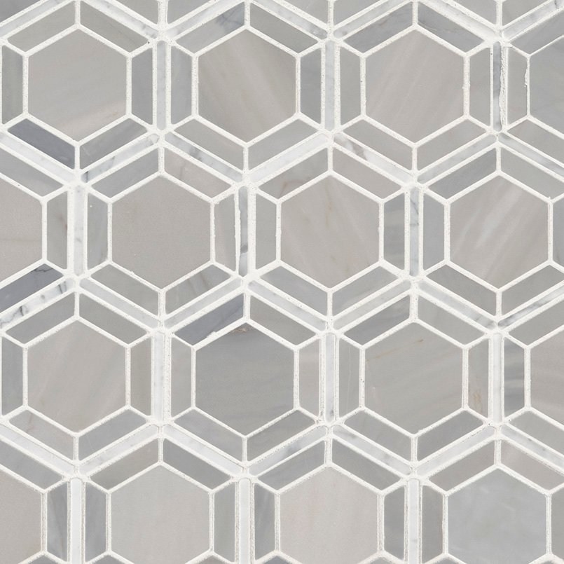DECORATIVE MOSAICS, Tiles and Flooring msi-tiles-flooring-hexagono-grigio-SMOT-HEXGON-GRIGIOP
