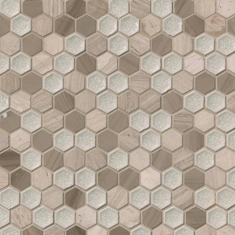 DECORATIVE MOSAICS, Tiles and Flooring msi-tiles-flooring-hexham-blend-hexagon-SMOT-SGLSGG-HEXHAM8MM