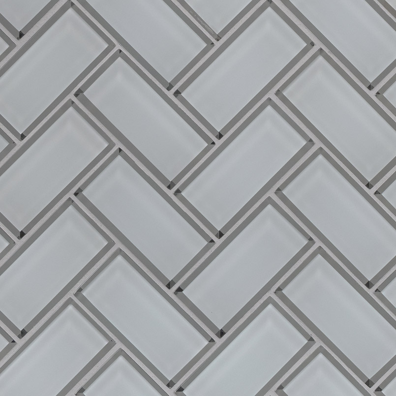DECORATIVE MOSAICS, Tiles and Flooring msi-tiles-flooring-ice-bevel-herringbone-SMOT-GLS-ICEBEHB8MM