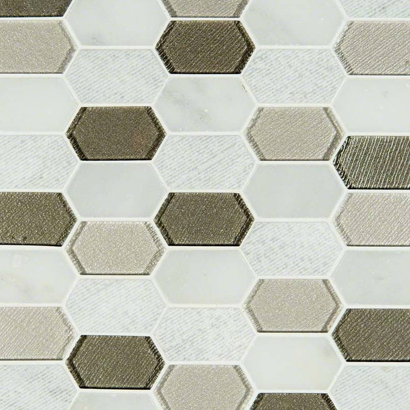 DECORATIVE MOSAICS, Tiles and Flooring msi-tiles-flooring-inessa-blanco-picket-SMOT-SGLSPK-INEBLA8MM