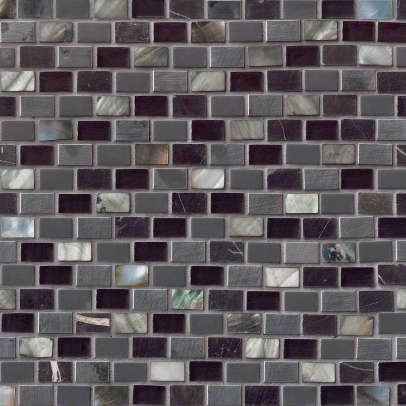 DECORATIVE MOSAICS, Tiles and Flooring msi-tiles-flooring-midnight-pearl-mini-brick-SMOT-SGLSMT-MNPRL8MM