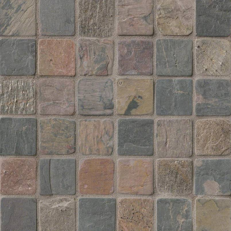 QUARTZITE COLLECTIONS, Tiles and Flooring msi-tiles-flooring-mixed-color-slate-2x2-THDW3-SH-MC2X2T