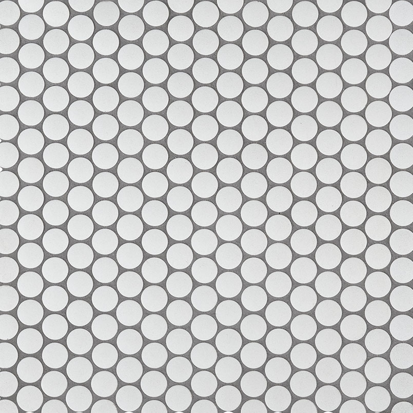 DECORATIVE MOSAICS, DOMINO COLLECTION, Tiles and Flooring msi-tiles-flooring-penny-round-bianco-matte-SMOT-PT-PENRD-BIAM