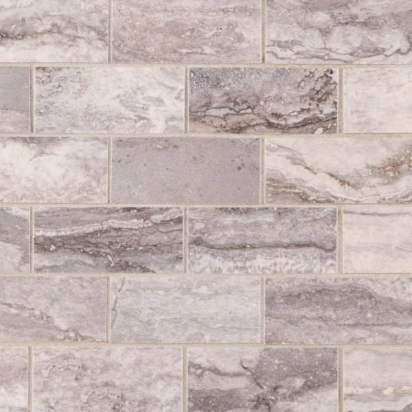 PORCELAIN FLOOR TILES, Tiles and Flooring msi-tiles-flooring-bernini-carbone-2x4-mosaic-polished-NPIEBERCAR2X4P