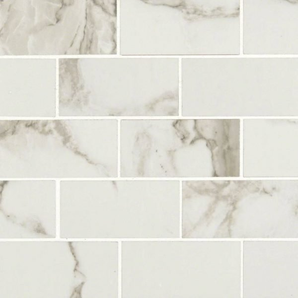 PORCELAIN FLOOR TILES, Tiles and Flooring msi-tiles-flooring-pietra-statuario-2x4-mosaic-NPIESTA2X4P